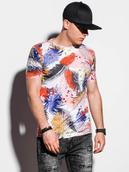 Balti marginti aplikacijomis vyriški marškinėliai internetu pigiau S1294 15061-1