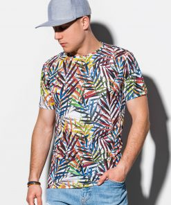 Balti gėlėti vyriški marškinėliai internetu pigiau S1290 15065-2