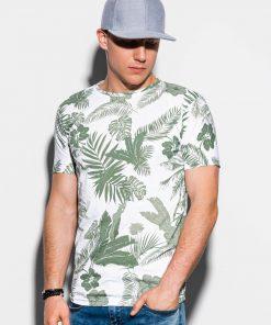 Žali gėlėti vyriški marškinėliai internetu pigiau S1297 15069-2