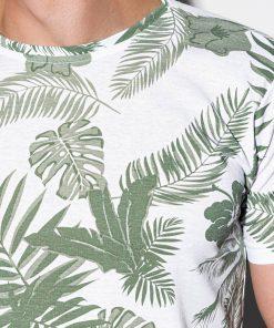 Žali gėlėti vyriški marškinėliai internetu pigiau S1297 15069-3