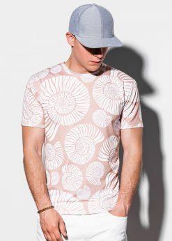 Rusvi vyriški marškinėliai internetu pigiau S1221 15083-3