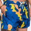 Mėlyni kamufliažiniai paplūdimio šortai vyrams internetu pigiau W248 15091-3