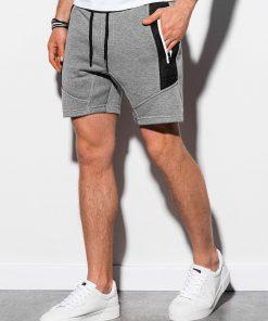 Pilkos melanžinės spalvos vyriški šortai internetu pigiau W240 15104-4