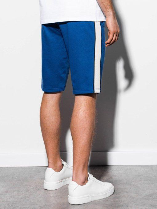 Mėlyni šortai vyrams internetu pigiau W241 15107-1