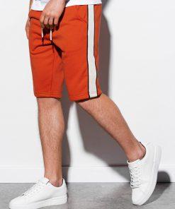 Raudonų plytų vyriški šortai internetu pigiau W241 15111-2