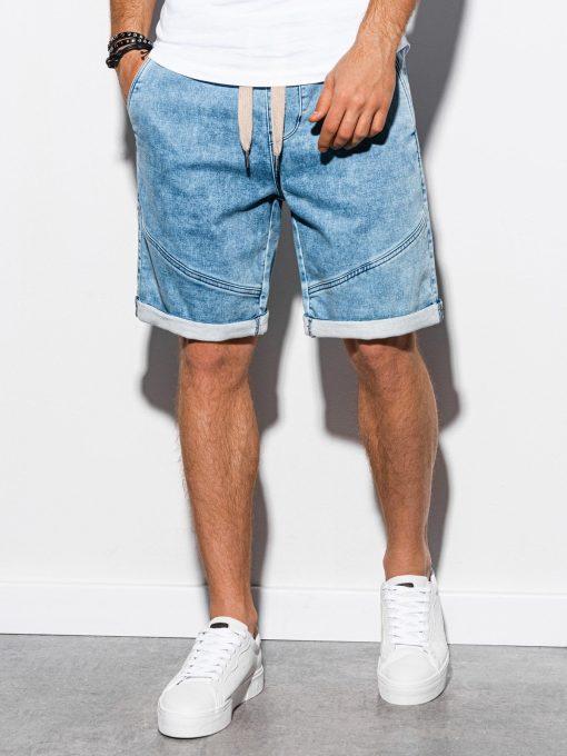 Šviesiai mėlyni džinsiniai šortai vyrams internetu pigiau W219 15196-3