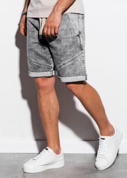 Pilki džinsiniai šortai vyrams internetu pigiau W219 15198-1