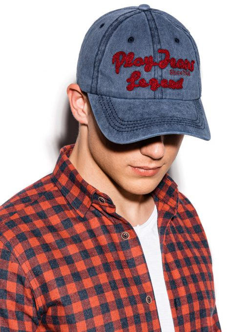 Mėlyna vyriška kepurė su snapeliu internetu pigiau H059 15209-1