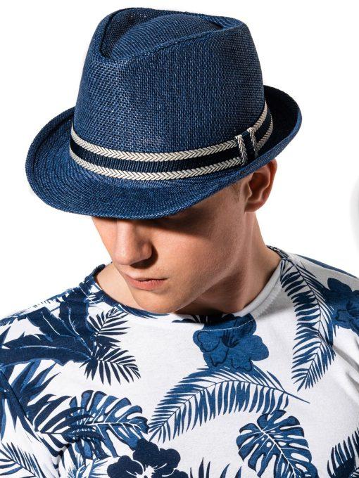 Tamsiai mėlyna vyriška skrybėlė internetu pigiau H072 15251-1