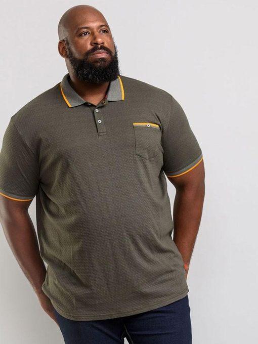 Chaki didelių dydžių polo marškinėliai vyrams marshall KS60687-1