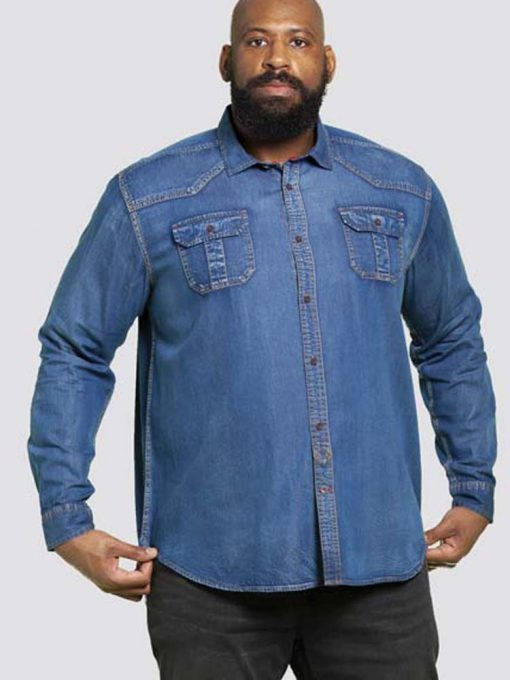 Didelių dydžių marškiniai vyrams ilgomis rankovėmis Colwood-KS10351DZ-1