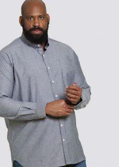 Didelių dydžių marškiniai vyrams ilgomis rankovėmis Nebraska KS10359P-1