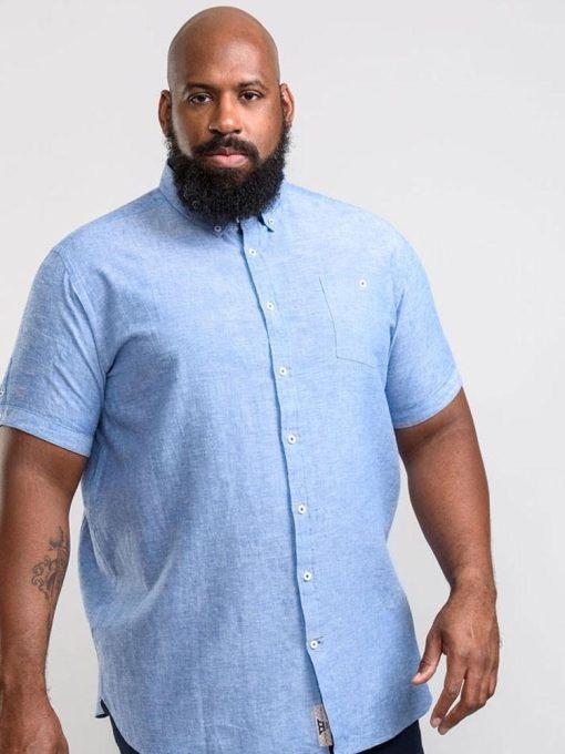 Didelių dydžių marškiniai vyrams trumpomis rankovėmis internetu Brixton KS10615SM-1