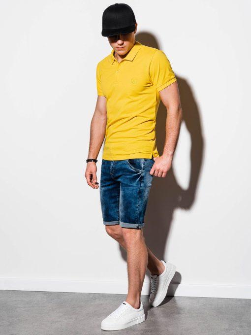 Geltoni-polo-marškinėliai-vyrams-internetu pigiau-S1048-13252-1-1