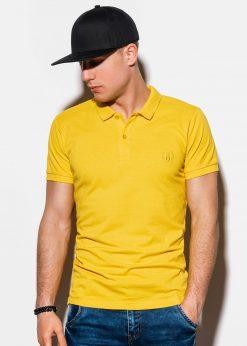Geltoni-vyriški-polo-marškinėliai-internetu pigiau-S1048-13252-2-2