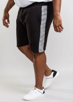Juodi didelių dydžių šortai vyrams Hayes-KS20722J-1