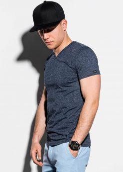 Tamsiai-mėlyni-vienspalviai-vyriški-marškinėliai-internetu-pigiau-S1041-13226-3-3