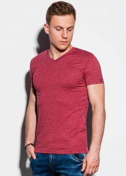 Tamsiai-raudoni-vienspalviai-vyriški-marškinėliai-internetu-pigiau-S1041-13224-3-3