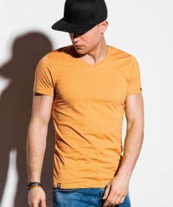 Vienspalviai geltoni marškinėliai vyrams internetu pigiau S1041_13230-2-2