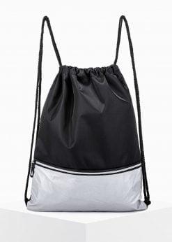 Juoda-sidabrinė kuprinė maišas vyrams internetu pigiau A270 15249-1