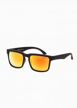 Juodi vyriški akiniai nuo saulės internetu pigiau A286 15303-1