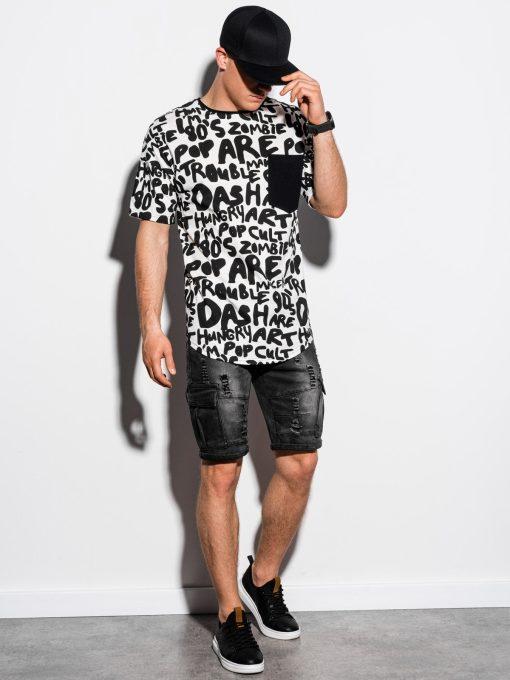 Balti marginti vyriški marškinėliai internetu pigiau S1218 15448-2