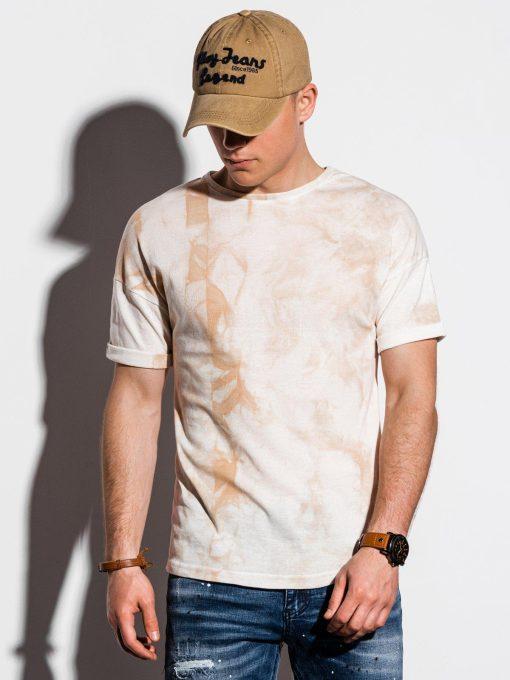 Rusvi marginti vyriški marškinėliai internetu pigiau S1219 15455-3
