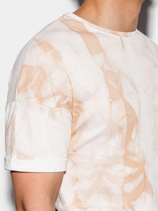 Rusvi marginti vyriški marškinėliai internetu pigiau S1219 15455-4