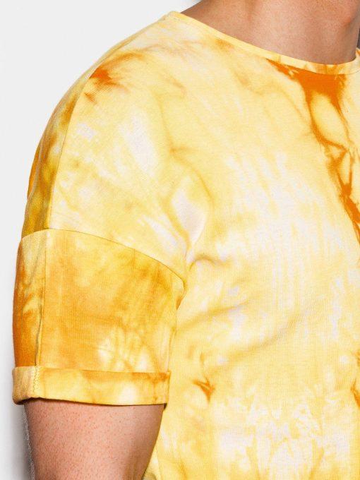 Geltoni vyriski marskineliai internetu pigiau S1219 15461-5