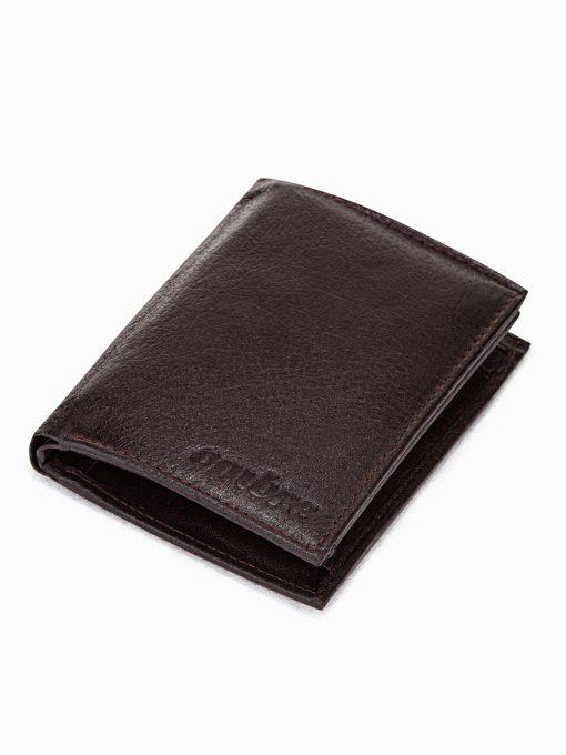 Ruda odinė piniginė vyrams internetu pigiau A292 15504-1