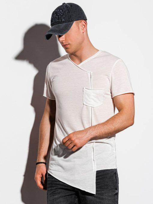 Rusvi asimetriški vyriški marškinėliai internetu pigiau S1215 15525-1