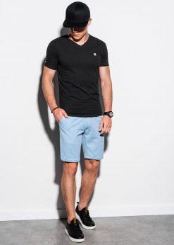Juodi vienspalviai marškinėliai vyrams internetu pigiau S1183 15533-5
