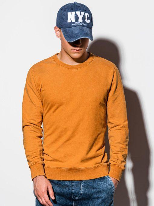 Garstyčių spalvos vyriškas džemperis internetu pigiau B1023 15564-1