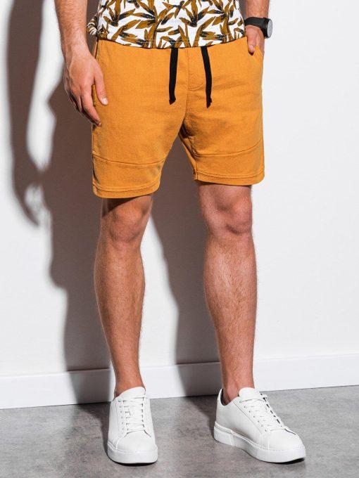 Geltoni laisvalaikio chino vyriški šortai internetu pigiau W223 15572-1