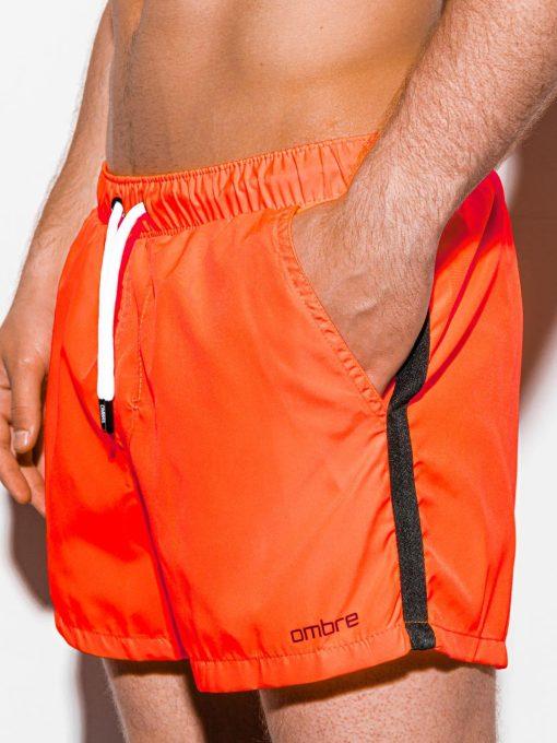 Oranžiniai paplūdimio šortai vyrams internetu pigiau W251 15578-1