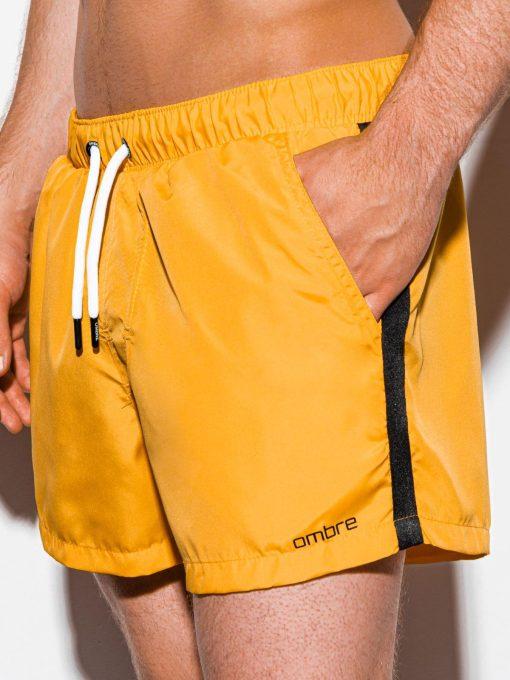 Geltoni paplūdimio šortai vyrams internetu pigiau W251 15580-1