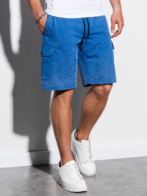 Mėlynilaisvalaikio cargo šortai vyrams internetu pigiau W225 15582-1