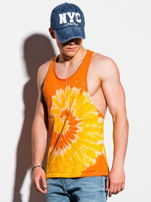Oranžiniai-geltoni vyriški marškinėliai be rankovių internetu pigiau S133415588-1