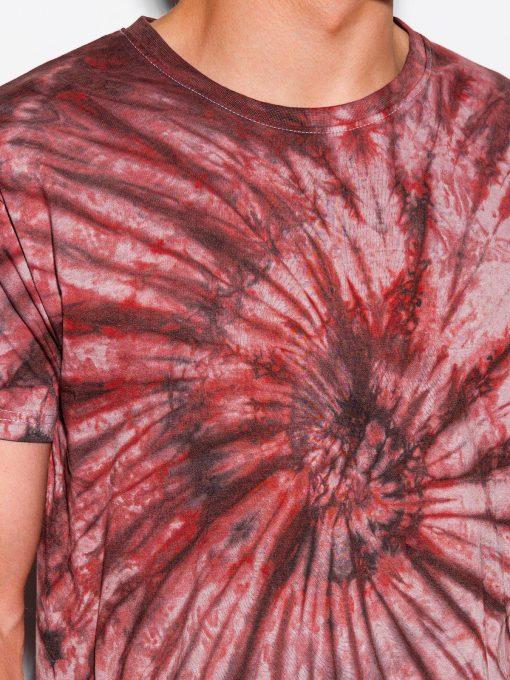 Raudoni vyriški marškinėliai su aplikacija internetu pigiau S1335 15589-3