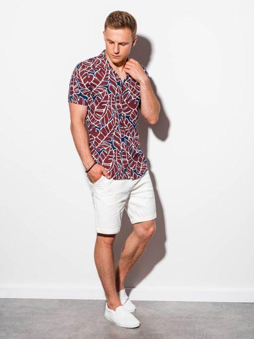 Marginti vyriški marškiniai trumpomis rankovėmis internetu pigiau K550 15607-2
