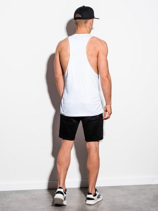 Balti vyriski marskineliai be rankoviu internetu pigiau S1342 15626-3