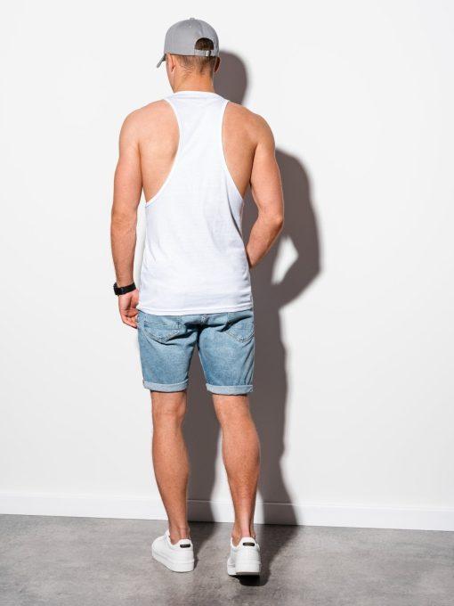 Balti marskineliai vyrams be rankoviu internetu pigiau S134115628-3