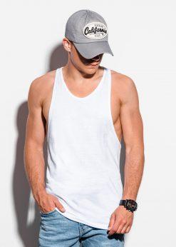 Balti vyriški marškinėliai be rankovių internetu pigiau S113015643-1