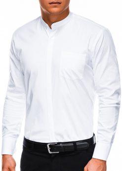 Stilingi balti vyriški marškiniai ilgomis rankovėmis internetu pigiau K307 2859-1