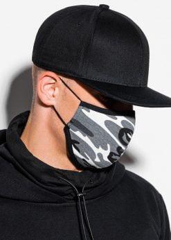 Pilka kamufliažinė apsauginė kaukė pigiau A295 15697-2