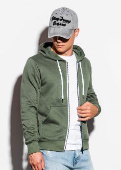 Chaki vyriškas džemperis su gobtuvu internetu pigiau B977 15764-1