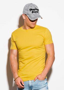 Geltoni vyriški marškinėliai internetu pigiau S884 15904-1