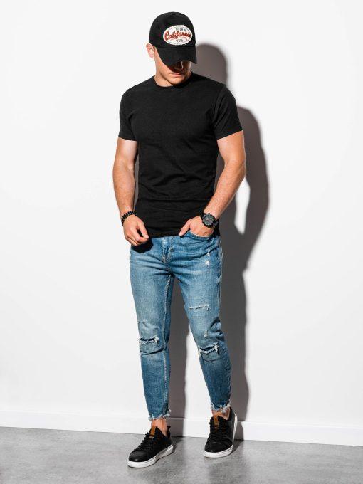 Juodi vyriški marškinėliai internetu pigiau S884 15905-1
