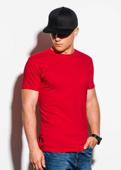 Vienspalviai raudoni vyriški marškinėliai internetu pigiau S884 15909-1