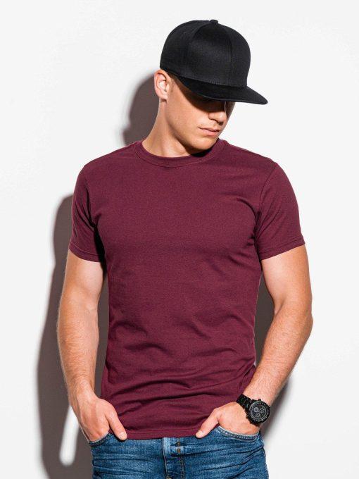 Tamsiai raudoni vyriški marškinėliai internetu pigiau S884 15911-1